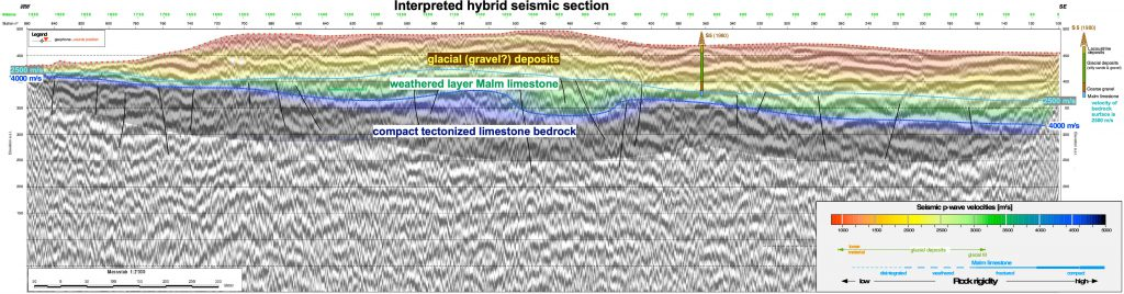 Hybrid seismic mapping of the prospective volume of gravel and sand deposits